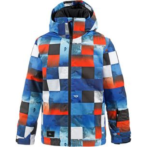 Quiksilver Snowboardjacke Kinder BLUE RED ICEY CHECK