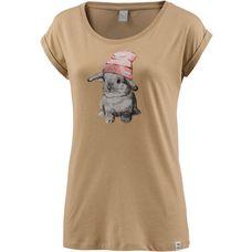 iriedaily T-Shirt Damen cognac mel.