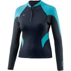 O'NEILL WMS Bahia Front Zip Jacket Neoprenshirt Damen Blau