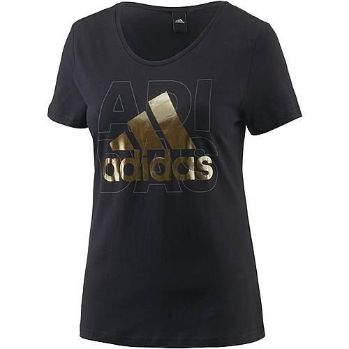 adidas Foil T-Shirt Damen schwarz