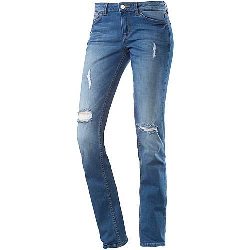 TOM TAILOR Stella Skinny Fit Jeans Damen blue denim