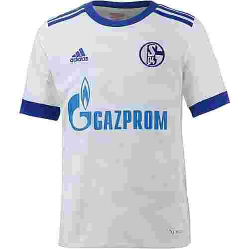 adidas Schalke 04 17/18 Auswärts Fußballtrikot Kinder white