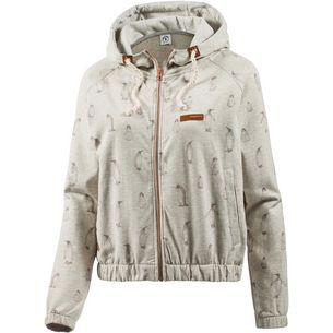 Mazine Sweatjacke Damen light grey melange berry penguins