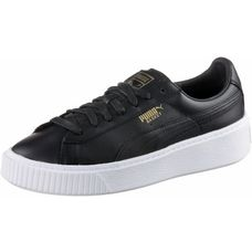 PUMA Basket Platform Core Sneaker Damen Puma Black-Gold