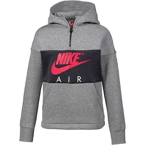 Nike Hoodie Kinder CARBON HEATHER/ANTHRACITE/SIREN RED