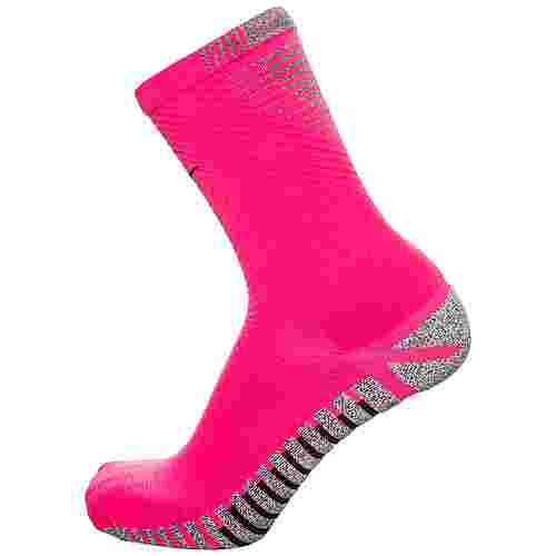 Nike Grip Strike Light Crew Fußballstrümpfe Herren pink / schwarz
