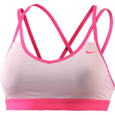 Nike Pro Indy Strappy Sport-BH Damen rosa/beere