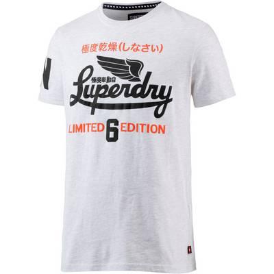 Superdry Printshirt Herren grau meliert