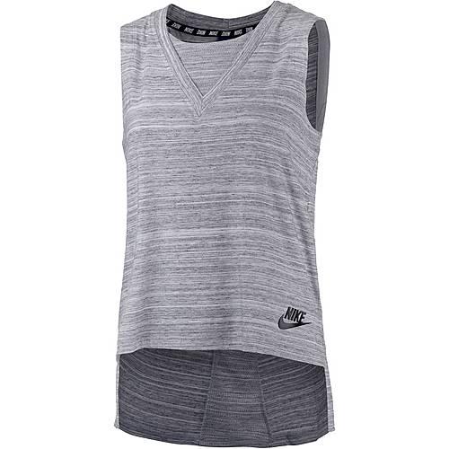 Nike Advanced Knit Tanktop Damen weiß/schwarz
