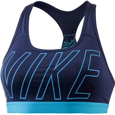 Nike Pro Classic Logo Read Sport-BH Damen blau
