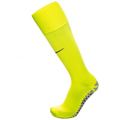 Nike Grip Strike Light Crew Fußballstrümpfe Herren neongelb / grau