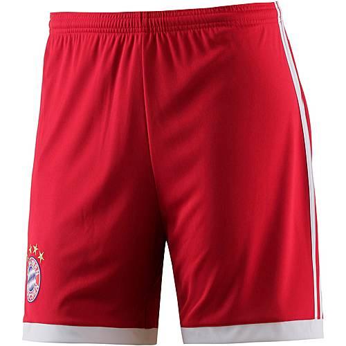 adidas FC Bayern 17/18 Heim Fußballshorts Herren FCB TRUE RED