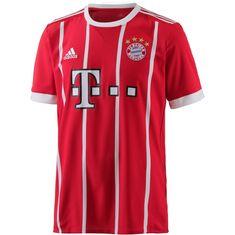 adidas FC Bayern 17/18 Heim Fußballtrikot Herren FCB TRUE RED