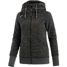 Ragwear Terry Zip Fleecejacke Damen black melange