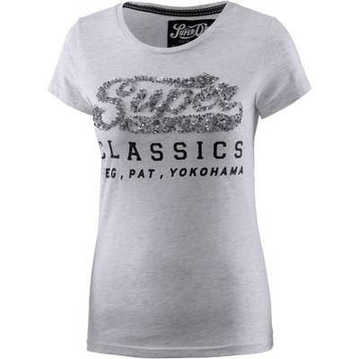 Superdry T-Shirt Damen hellgrau