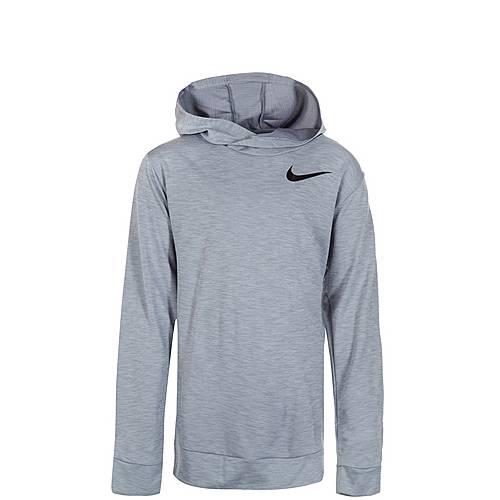 Nike Dry Hyper Kapuzenshirt Kinder hellgrau