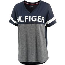 Tommy Hilfiger V-Shirt Damen grey heather