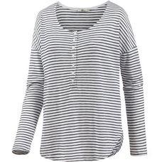 LTB Langarmshirt Damen black white stripes