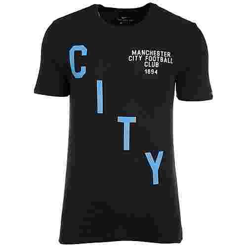 Nike Manchester City Squad Fanshirt Herren schwarz / blau
