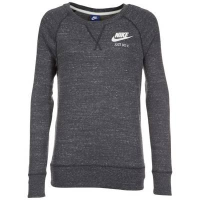 Nike Gym Vintage Crew Sweatshirt Damen dunkelgrau / weiß