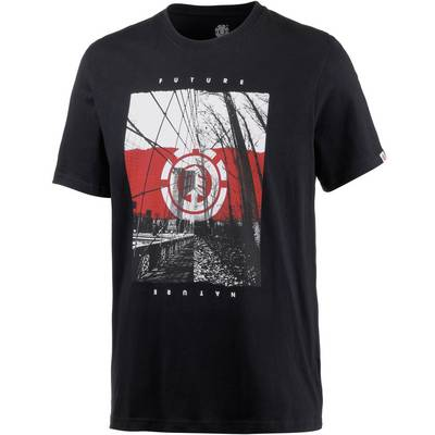 Element DUAL SS Printshirt Herren schwarz