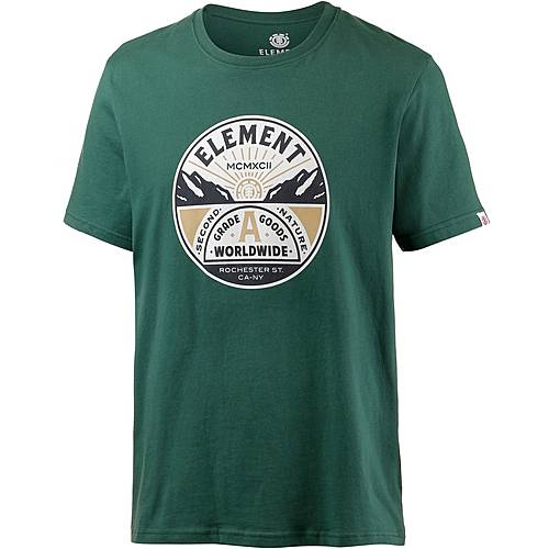 Element GRADE A SS Printshirt Herren grün