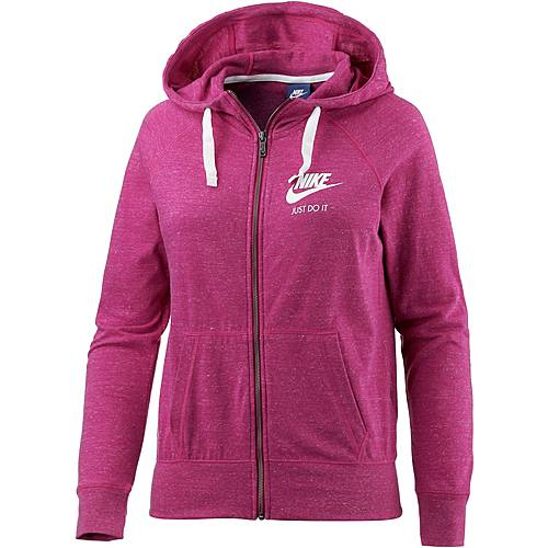 Nike Gym Vintage Sweatjacke Damen fuchsia/melange