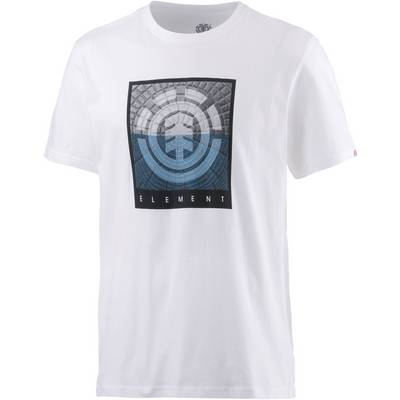 Element CAST SS Printshirt Herren weiß