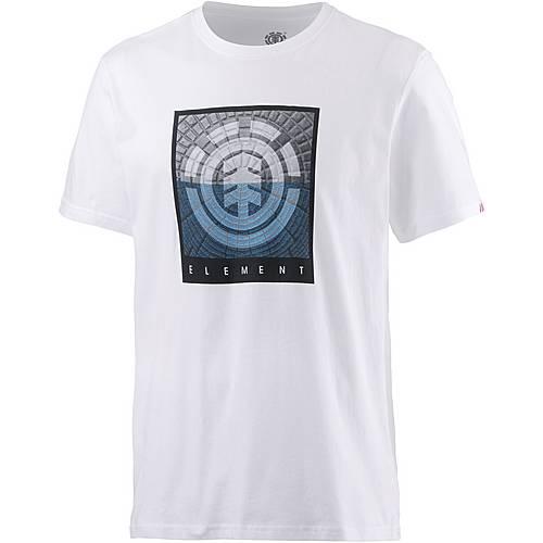 Element CAST SS Printshirt Herren weiß