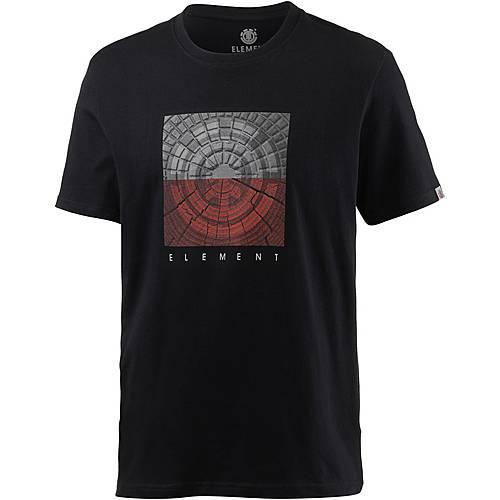 Element CAST SS Printshirt Herren schwarz