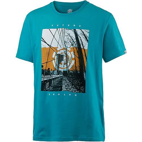 Element DUAL SS Printshirt Herren türkis