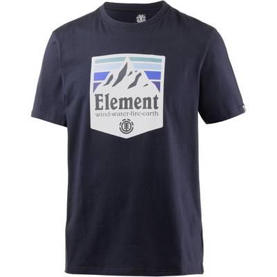 Element SHUTTER SS Printshirt Herren blau