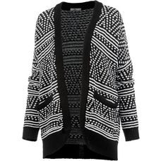 LTB Strickjacke Damen black white mix