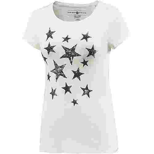 TOM TAILOR T-Shirt Damen off white