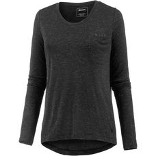 Bench Langarmshirt Damen black beauty marl
