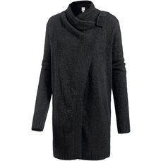 Bench Strickjacke Damen black beauty