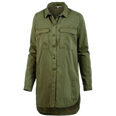 TOM TAILOR Langarmhemd Damen golden olive green