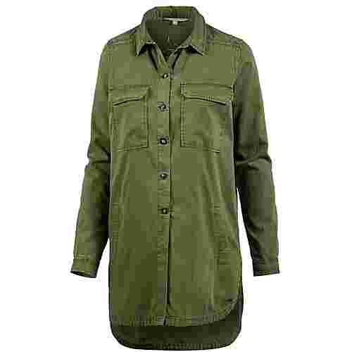 TOM TAILOR Langarmhemd Damen golden olive green