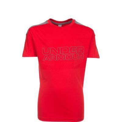 Under Armour HeatGear Activate Funktionsshirt Kinder rot / grau