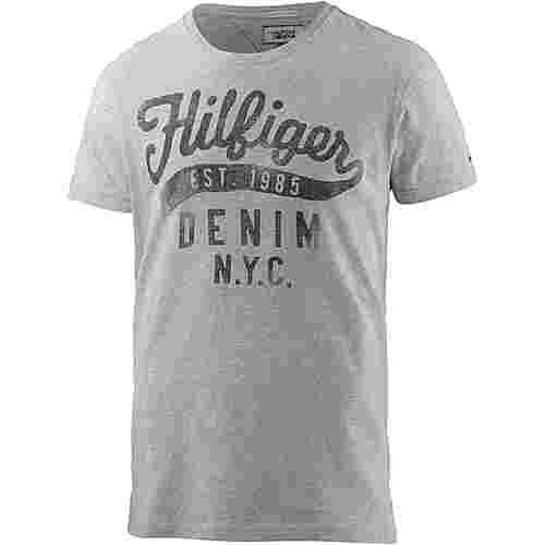 Tommy Hilfiger Printshirt Herren hellgau melange