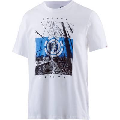 Element DUAL SS Printshirt Herren weiß