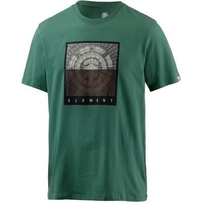 Element CAST SS Printshirt Herren grün
