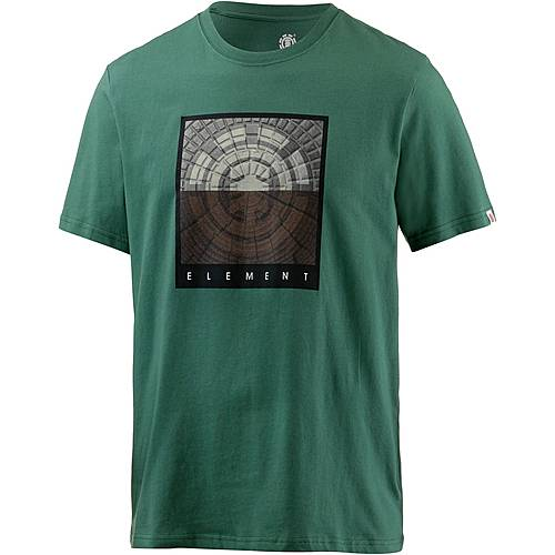 Element CAST SS Printshirt Herren grün
