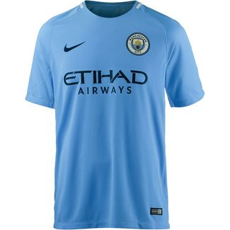 Nike Manchester City 17/18 Heim Fußballtrikot Herren blau