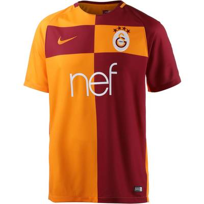 Nike Galatasaray Istanbul 17/18 Heim Fußballtrikot Herren orange/rot
