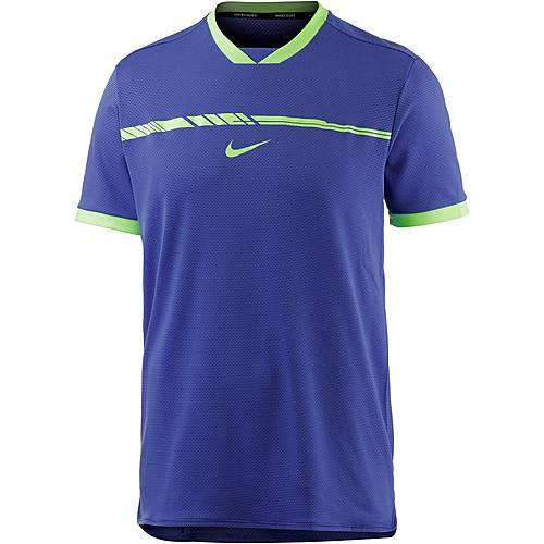Nike Rafael Nadal French Open Tennisshirt Herren blau
