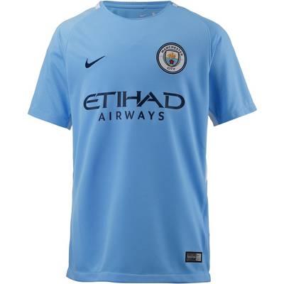 Nike Manchester City 17/18 Heim Fußballtrikot Kinder blau
