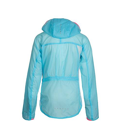 Nike Impossibly Light Laufjacke Mädchen blau hellrot im