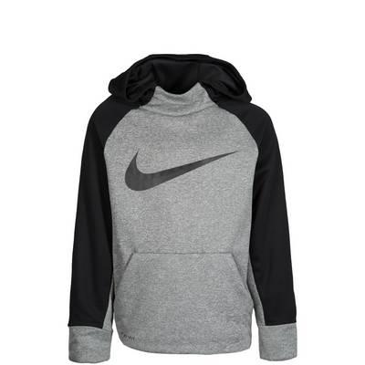 Nike Therma Hoodie Kinder grau / schwarz
