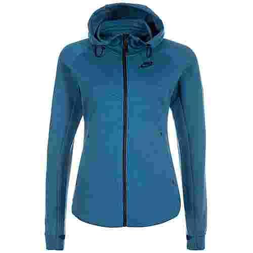 Nike Tech Fleece Sweatjacke Damen petrol / schwarz